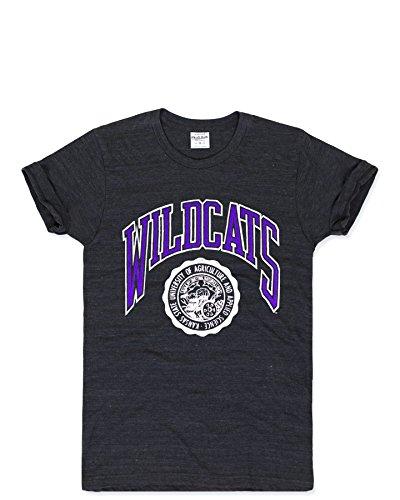 Charlie Hustle Unisex Collegiate Kansas State Seal T-Shirt XXL Black