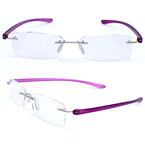 Rectangle Frameless Presbyopic Eyeglasses Magnifying