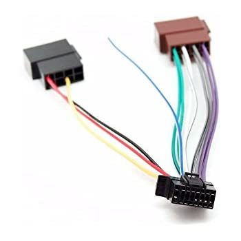 amazon com sony so 16 16 pin wire harness automotivesony new 16 pin to iso lead wiring loom power adaptor wire radio connector