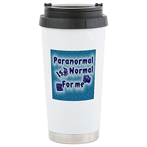 CafePress - Paranormal is normal Stainless Steel Travel Mug - Stainless Steel Travel Mug, Insulated 16 oz. Coffee Tumbler by CafePress