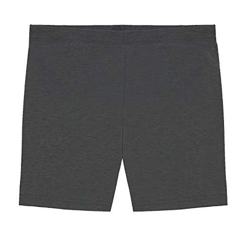 Hollywood Star Fashion Khanomak Kids Girls Biker Shorts (Size 6/7, Charcoal)