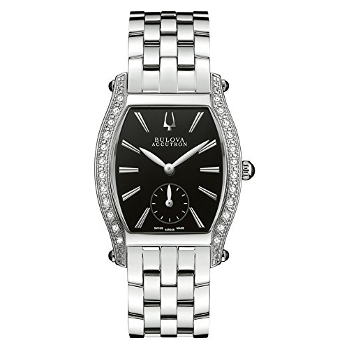 Bulova Accutron 63R006 Ladies Black Silver Saleya Watch
