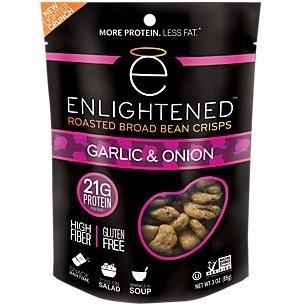 Enlightened Bada Bean Bada Boom Crunchy Broad Beans Snacks, Garlic and Onion, 3 Ounce (Single Bag