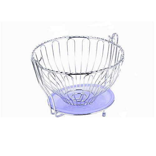 Fry Pan Basic Essentials (ZXJ$Home essential Round Swing Fruit Basket With Drain Tray Living Room Fruit Tray Home Creative Fruit Rack For Vegetable And Fruit Storage 28x18.5CM -Food Storage)