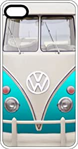 Classic Teal VW Bus Van White Rubber Case for Apple iPhone 4 or iPhone 4s