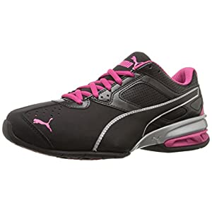 PUMA Women's Tazon 6 Wn's FM Cross-Trainer Shoe, Black Silver/Beetroot Purple, 8.5 M US