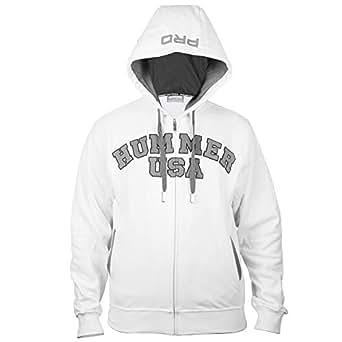Hummer USA Fitness White Zip Up Hoodie Zip Up Hoodie For Men