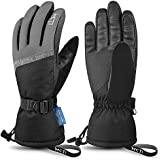 MCTi Ski Gloves,Winter Waterproof Snowboard Snow 3M Thinsulate Warm Touchscreen Cold Weather Women Gloves Wrist Leashes