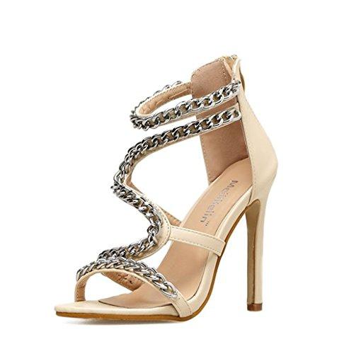 Queena Wheeler Heeled Sandals for Women Shoes Stiletto Heels Dress Party Wedding Sandals Dress Sandals apricot