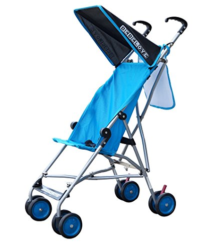 BeBeLove USA Blue Single Umbrella Stroller, Solid Sea