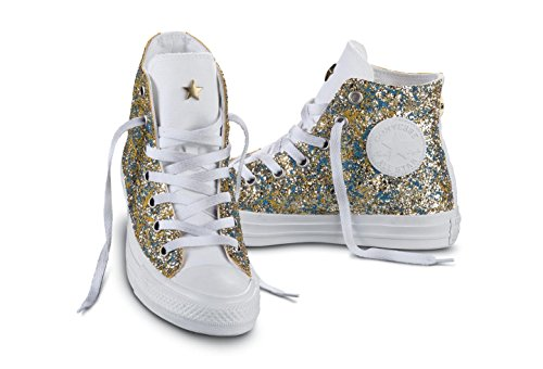 CONVERSE C.T. All Star Hi Canvas LTD glitter sneakers TESSUTO GOLD ORO 156904C