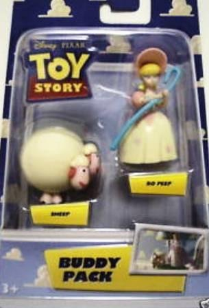 Bo Peep Doll - Disney Pixar Toy Story Buddy Pack Bo Peep & Sheep Two Inch High Mini Figures