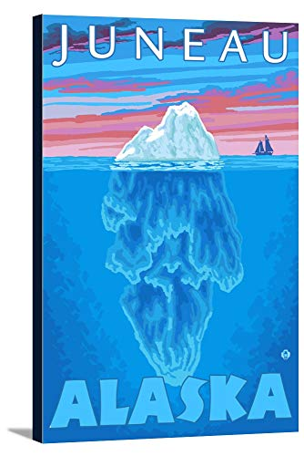 Iceberg Cross-Section - Juneau, Alaska (24x36 Gallery Wrapped Stretched Canvas)