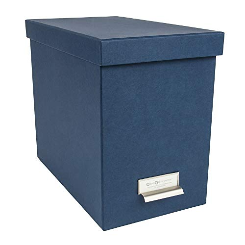 Bigso John Desktop File Thin Label Frame Storage Box, Blue