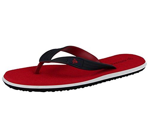 Mens DMP563/571 Dunlop Toe Post Flip Flops Sport Beach Summer Sandals Shoe Size 6-12 Red Navy