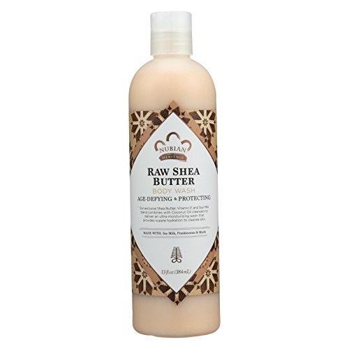 2 Pack of Nubian Heritage Body Wash Raw Shea Butter - 13 fl