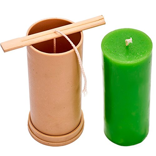 Candle Shop - Сylinder mold - height: 5.9 in, width: 2.3 in - 30 ft. of wick included as a gift - Plastic candle molds for making candles (Candle Taper Mold)