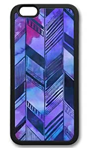 Abstract Purple Pattern Customized Rubber Black iphone 5c Case On Custom Service