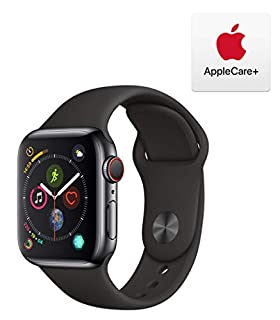 Apple Watch Series 4 (GPS + Cellular, 40mm) - Space Black Stainless Steel Case with Black Sport Band with AppleCare+ Bundle (B07PT8496Y) | Amazon price tracker / tracking, Amazon price history charts, Amazon price watches, Amazon price drop alerts
