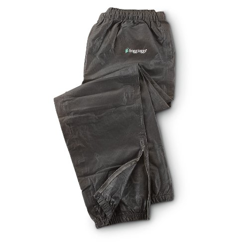 Frogg Toggs PA83102-01LG Pro Action Rain Pants, Size Large, Black