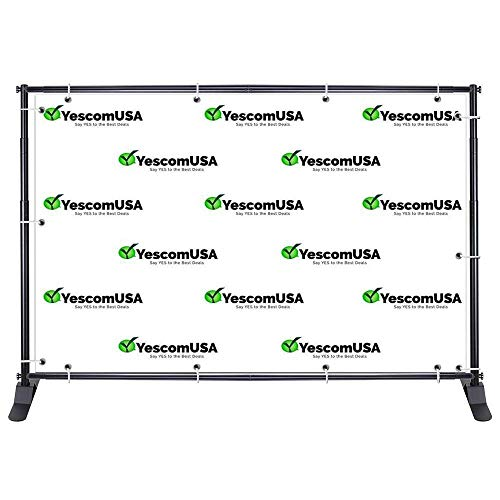 10x8 ft Adjustable Telescopic Banner Backdrop Stand Portable Jumbo + Carrying Bag for Trade Show Event Exhibition