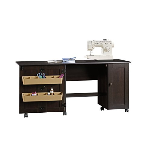 Sauder Sewing Craft Cart, Cinnamon Cherry Finish - Sewing Machine Cabinets And Tables