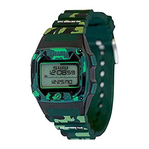 Freestyle Men's 'Shark' Quartz Plastic and Silicone Sport Watch, Color:Green (Model: 10026932) (Freestyle Shark Green Watch)