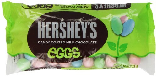 Hershey's Candy Coated Milk Chocolate Eggs, 10-Ounce Bag (Pack of 2)