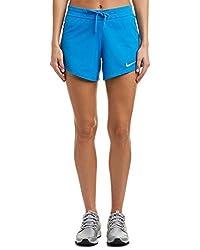 Nike Womens Women's Infiknit Mid Short, S, Blue