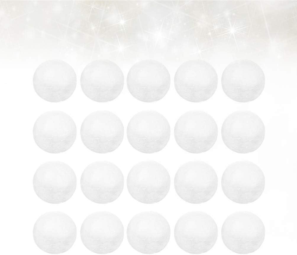 NUOBESTY 25 st/ücke styroporkugeln wei/ß polystyrolschaum Ball Handwerk schaumkugeln f/ür Handwerk Kunst Projekt modellierung DIY weihnachtsschmuck 7 cm