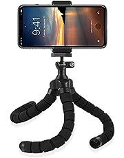 Rhodesy RT-02 Supporto Stand a Treppiedi in Stile Octopus con Telecomando Bluetooth per Fotocamera, Gualsiasi Smartphone con Clip