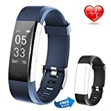 Lintelek Fitness Tracker Heart Rate Monitor Activity Tracker Calorie Step Counter Pedometer Odometer, Waterproof Sleep Monitor, Smart Watch Bracelet with Free Replacement Band for Fitbit Men Women