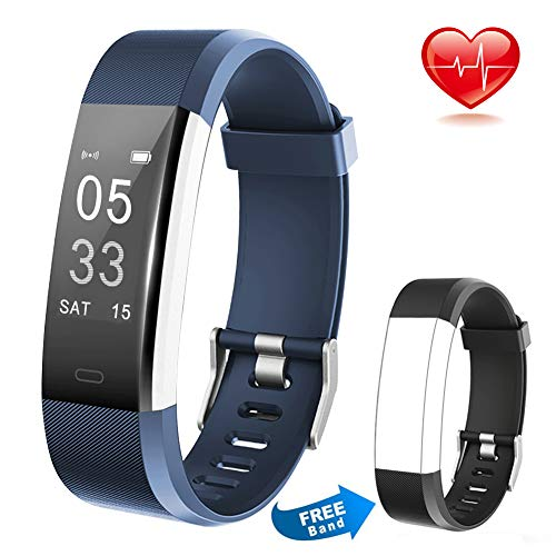 Lintelek Fitness Tracker Wireless Charging Message Call Reminder Heart Rate Monitor, Waterproof Activity Tracker Sleep Monitor, Smart Watch Calorie Counter Replacement Band Android iOS, Men Women Kids -