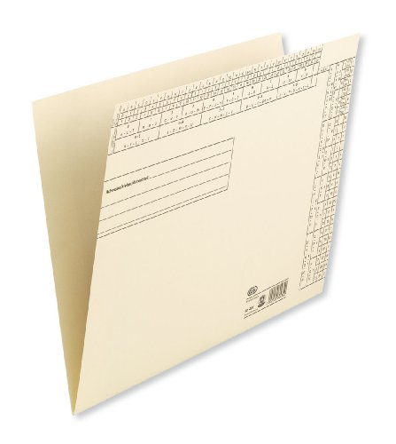 Elba 80434 Folder from Recycled Cardboard with Hole Punches and Filing Stripe Fastener Pack of 50 Chamois