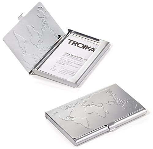 TROIKA WORLD IN YOUR HAND – PEN10CDC/DB – Set of rollerball pen and business card case – black TROIKA 5888 refill (Made in Germany) – holds 17 cards – TROIKA-original by Troika (Image #3)