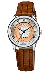 August Steiner Women's CN005S-AS Round Indian Head Penny Collectors Silver-tone Coin  Watch