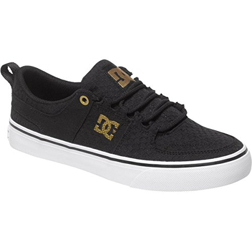 UPC 888327428239, DC Women's Lynx Vulc TX SE Skate Shoe, Black/White/Gold, 11 M US