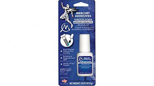 Mercury Adhesives Brush-in-Cap Threadlocker 5 grams