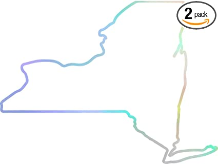 Amazon Com Angdest New York Map Outline Hologram Set Of 2