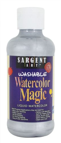 - Sargent Art 22-6082 8-Ounce Watercolor Magic, Metallic Silver