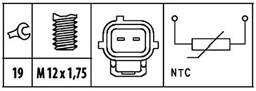 HELLA 6PT 009 309-411 Sensor N/úmero de conexiones 2 temperatura del refrigerante