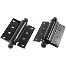 """uxcell Saloon Cafe Swing Door Self Closing Single Action Spring Hinge 3"""" 2pcs"""
