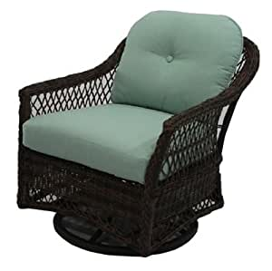 Patio Master BGH05523H60 Bermuda Swivel Glider, All-Weather Wicker, Steel Frame - Quantity 2
