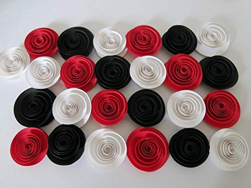 24 Red, Black and White Roses, 1.5