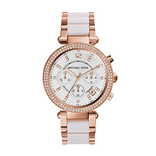 (Michael Kors Women's Parker Rose Gold-Tone Watch MK5774)
