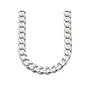 jewellery necklace men solid hallmarked mens sterling chain silver s curb heavy wide