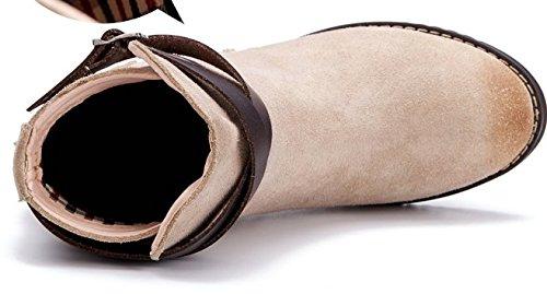Baises avec Martin en automne et en hivernales bottes/Bottes de cuir court/Angleterre et bottes dans le vent-B Longueur du pied=24.8CM(9.8Inch)