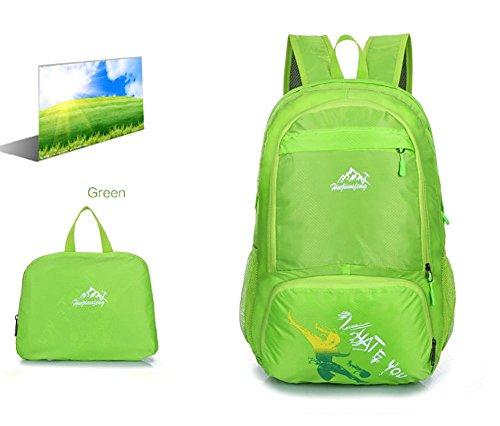 De gran capacidad morral al aire libre del agua turismo de deportes del bolso de hombro de los hombres de montaña , green Green
