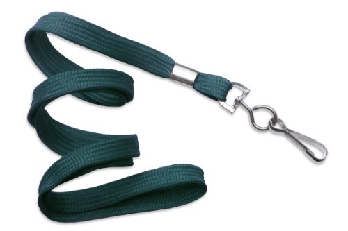 - Teal Flat Non-Breakaway Lanyard With Steel Swivel Hook by Specialist ID, Sold Individually