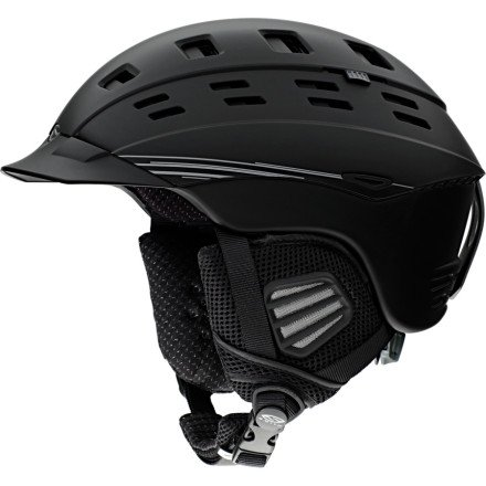 (Smith Optics Variant Brim Snow Helmets, Matte Black, X-Large)